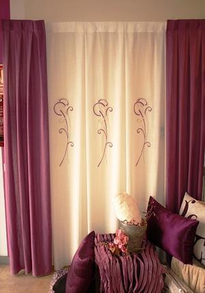 cortina para rieles 200 x 2,50  300€